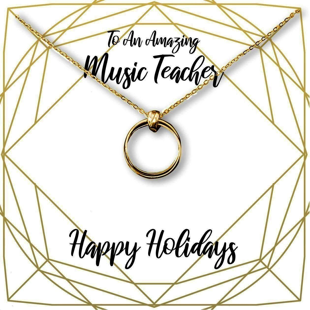 Music Teacher Necklace: Piano Teacher, Clarinet Teacher, Violin Teacher, Flute Teacher, Band Teache