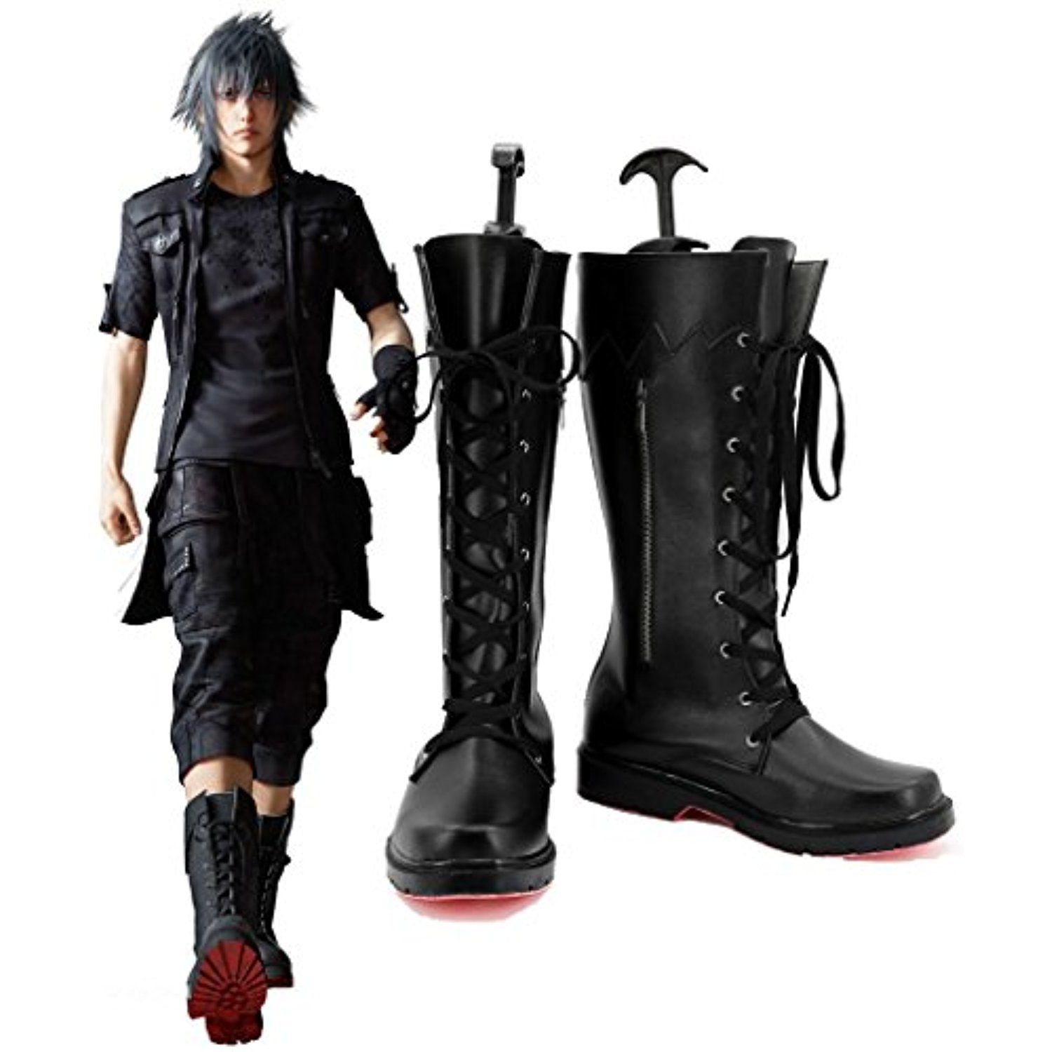 Final Fantasy XV Noctis Lucis Caelum Cosplay Shoes Boots Custom Made