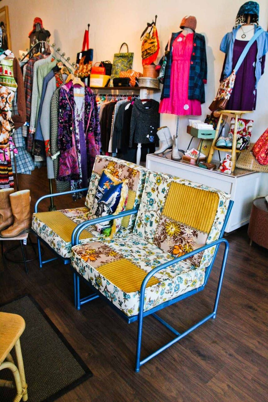 Sewn Handmade And Vintage Clothing Retail Space Vintage Outfits Store Displays