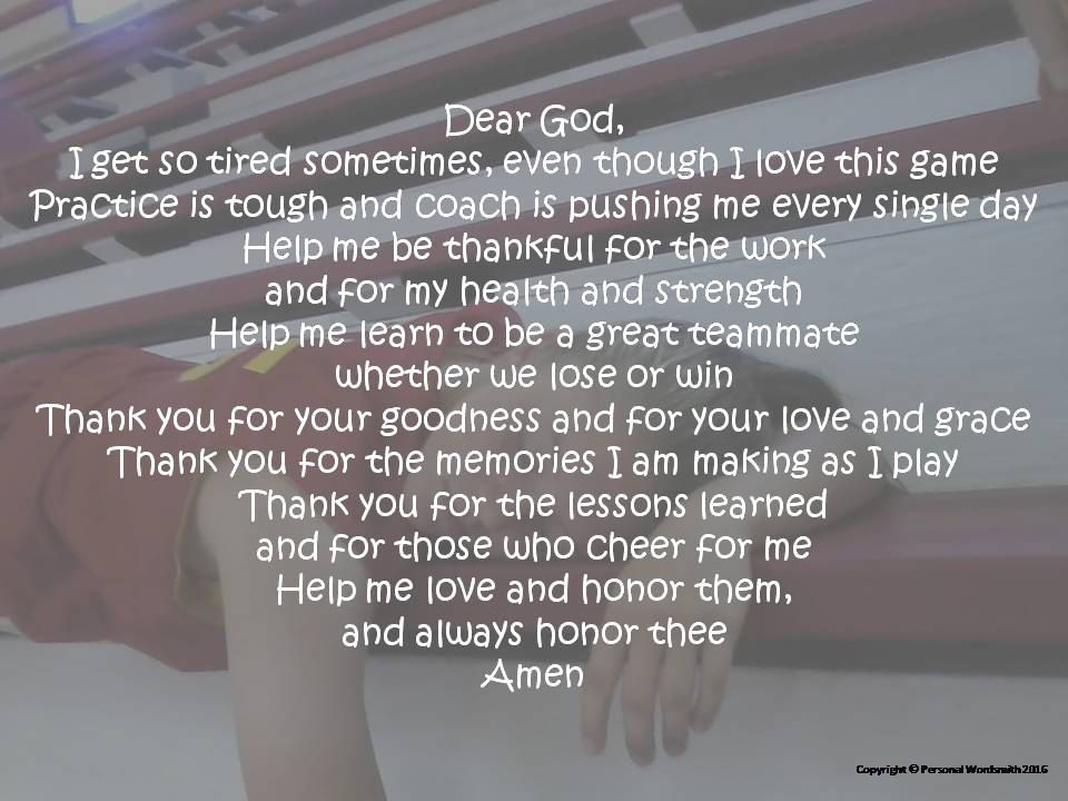 Lovely Girl's Basketball Prayer, Basketball Prayer Poem, Short Athlete's  ZB85