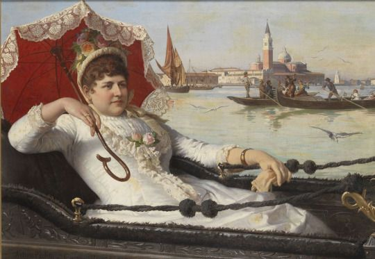 1887 Antonio Ermolao Paoletti - Party in the Gondola, Venice