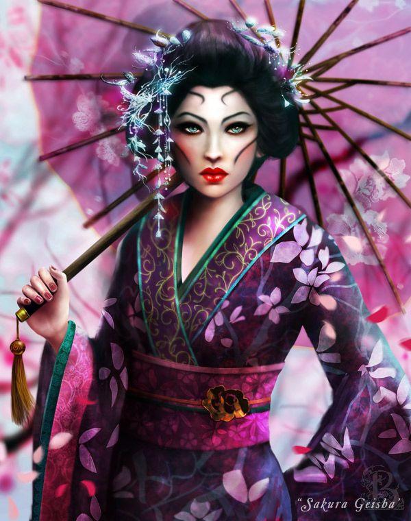 380abd101 Sakura Geisha by BrookeGillette.deviantart.com on @deviantART | Work ...