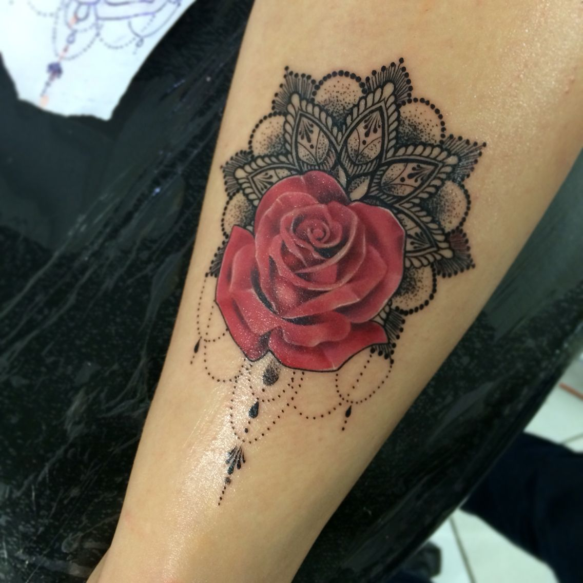 Tattoo Rose Mandala Tatouage Flotte Tatoveringer Tatoveringer
