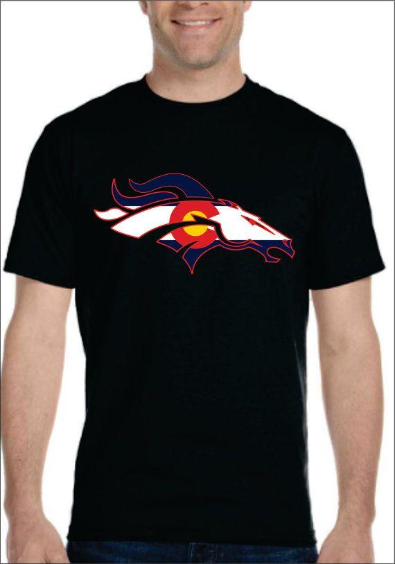 4b04c68c Denver Broncos with colorado flag t-shirt for men women youth kids ...