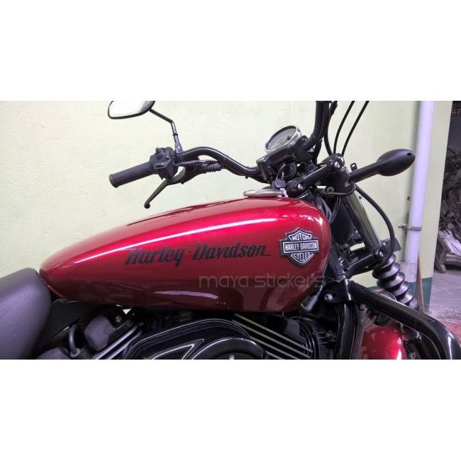Harley Logo Sticker Applied On Harley Davidson Street India - Stickers for motorcycles harley davidsonsbest harley davidson images on pinterest