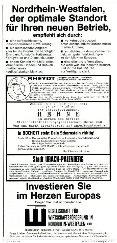 Original-Werbung/ Anzeige 1968 - RHEYDT / HERNE / BOCHOLT / UBACH-PALENBERG - ca. 115 x 240 mm