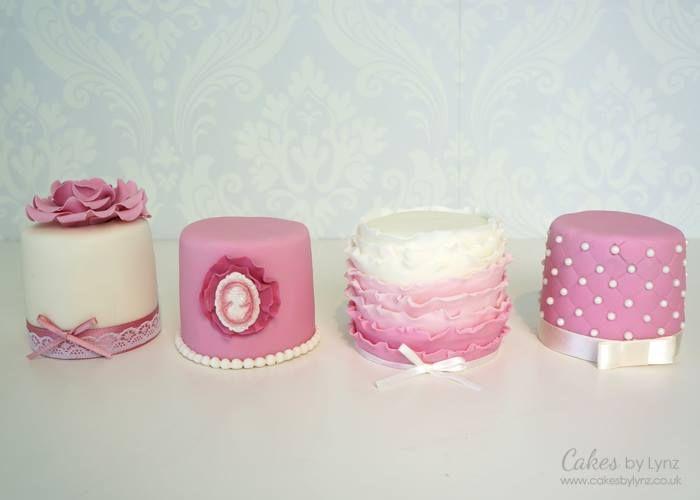 Pink & White Mini Cakes