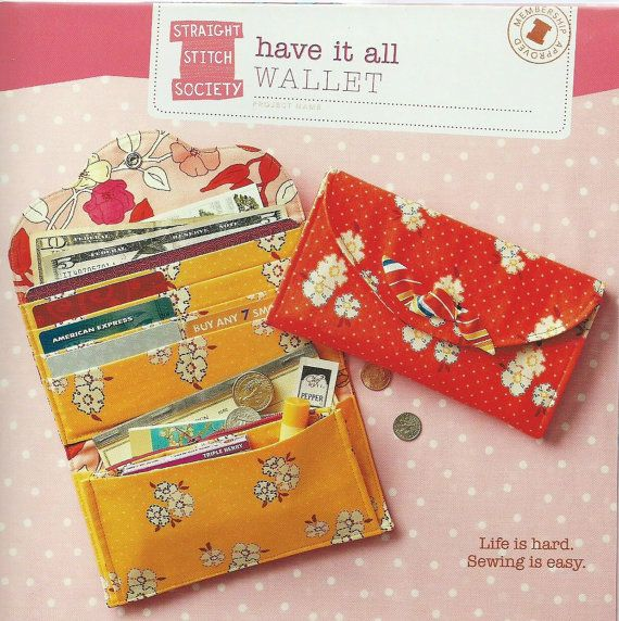 Have it All Wallet PatternStraight Stitch by SewStitchingHappy, $8.95