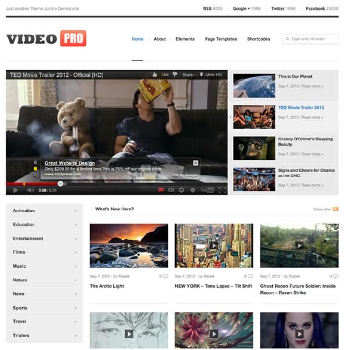 Download-Free-Video-Pro-WP-Theme | WordPress Themes | Pinterest