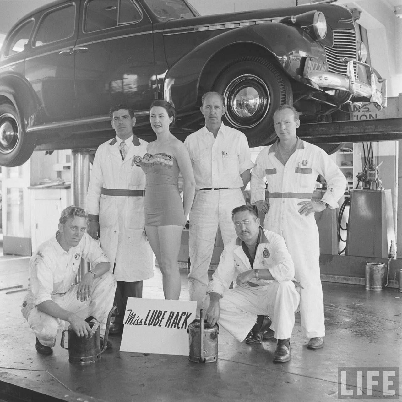 miss lube rack 1950s life magazine
