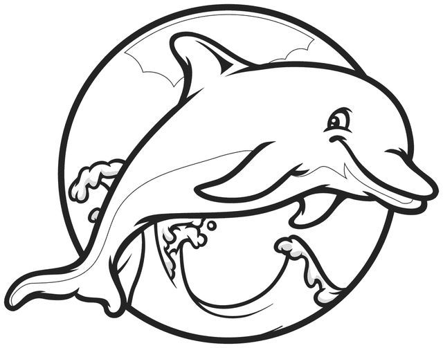 Cute Dolphin Coloring Pages Dolphin Coloring Pages Cartoon Coloring Pages Animal Coloring Pages