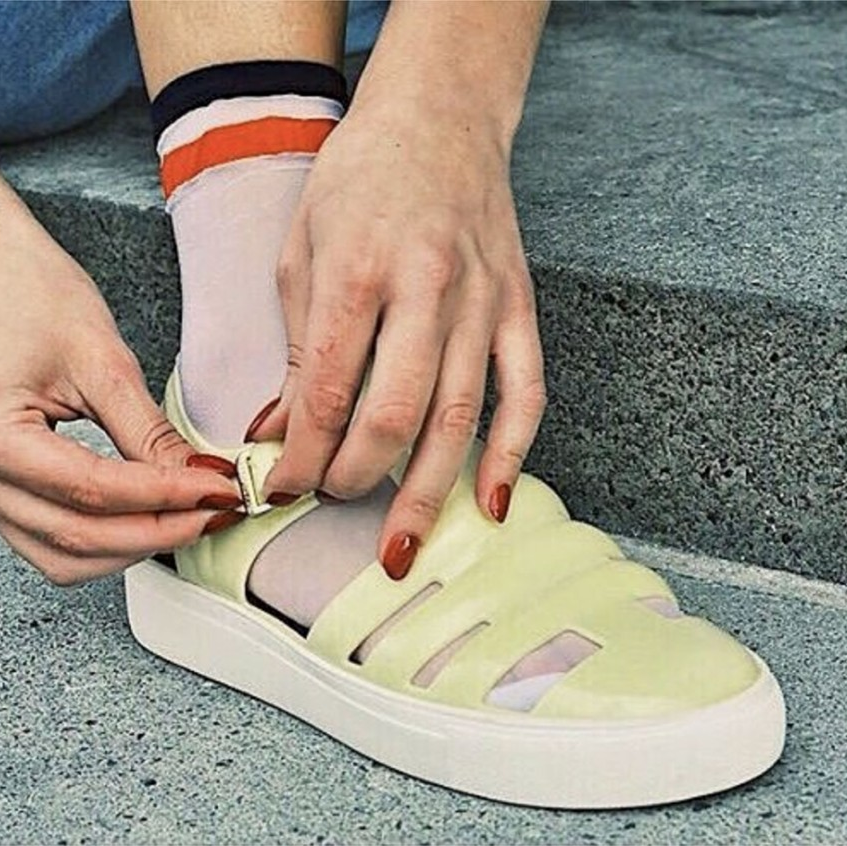 Socks and sandals, Jelly shoes