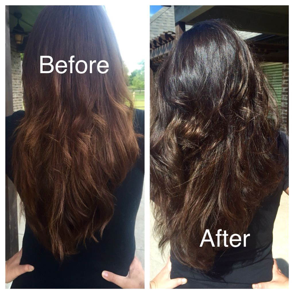 Henna Hair Before And After Lush Caca Noir Beauty Fashion