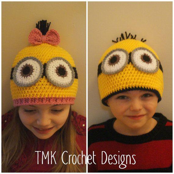 Crochet Minion Hat Pattern. 6-12, 12-24 months, 3-5 years, Child ...
