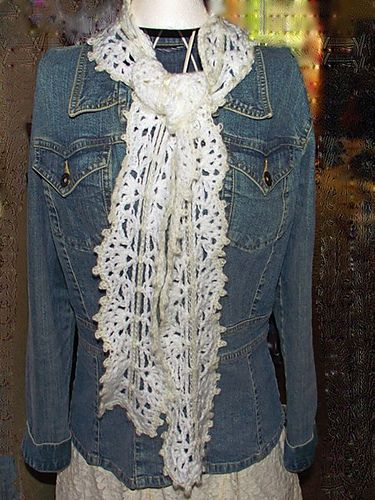 Victorian Lace Scallop Scarf Pattern By Julia Tellier Crochet