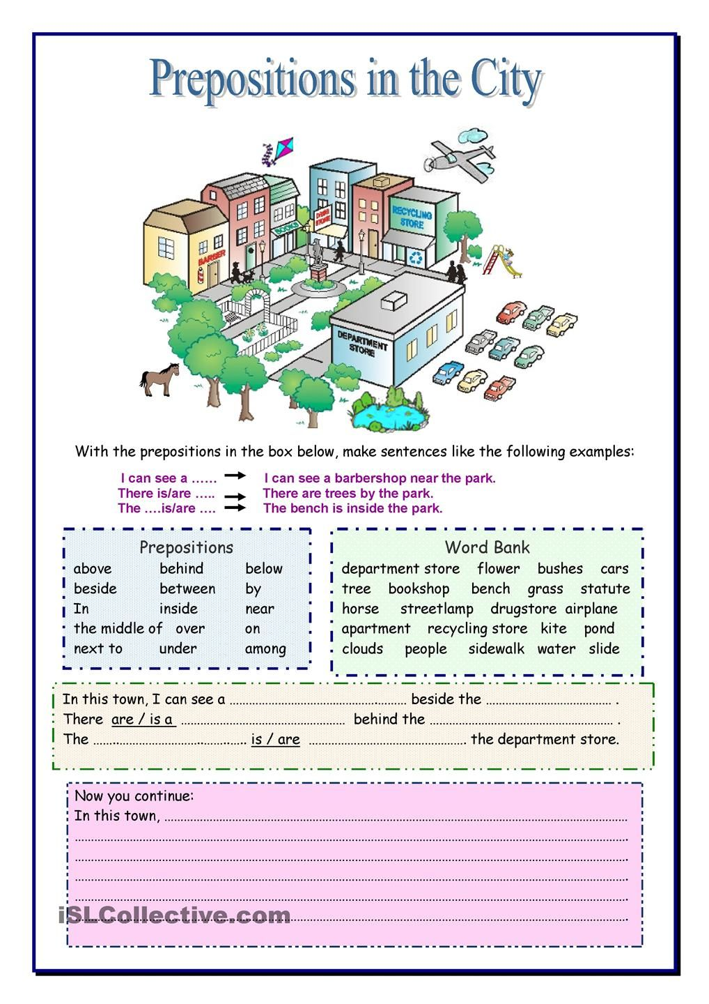 Prepositions In The City Teacher Resources Pinterest