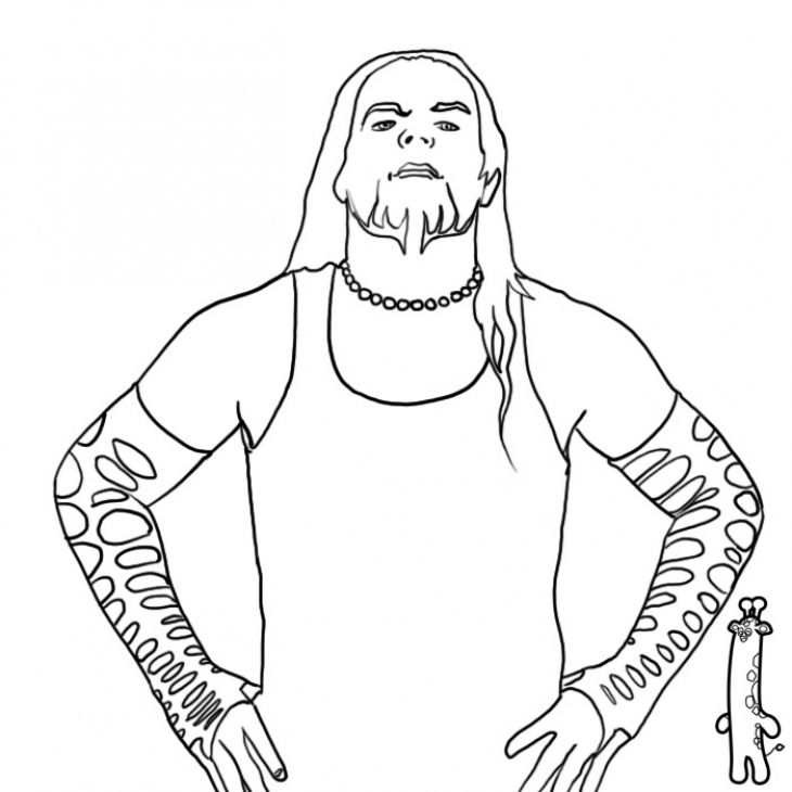 The Cool Jeff Hardy Taunting Free Printable Coloring Page Wwe