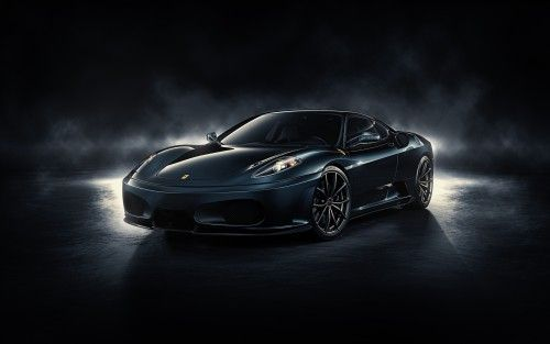 Best Car Wallpapers Free Download Black Ferrari With Dark