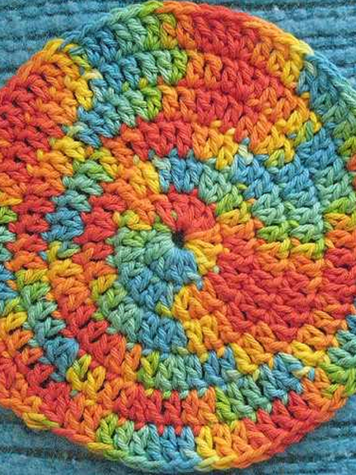 Spiral Crochet Hot Pads To Make, Use, And Admire | Häckeln, Stricken ...
