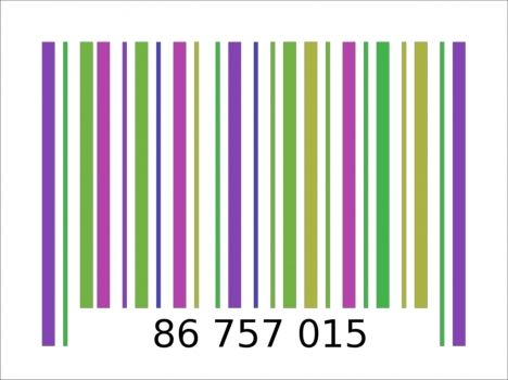 barcode powerpoint template color pinterest