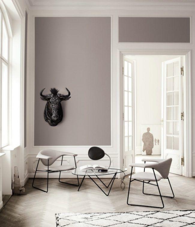 taupe wandfarbe parkettboden designer moebel sitzecke for the home pinterest sitzecke. Black Bedroom Furniture Sets. Home Design Ideas