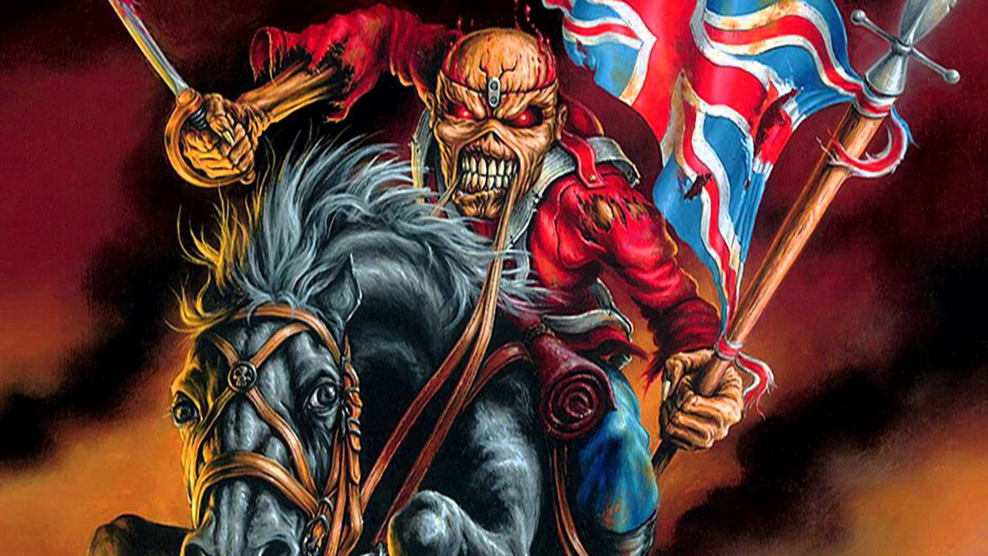 Iron Maiden Number Of The Beast Wallpapers Free Iron Maiden The Trooper Beast Wallpaper Iron Maiden