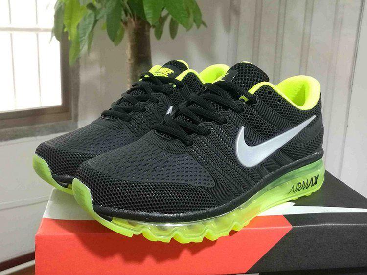 sale retailer d82b9 66931 Nike 2017 KPU New Running Shoes Men Black Fluorescence Green 40-45