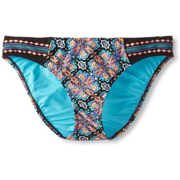 Nanette Lepore Women's Paloma Charmer Hipster Bikini Bottom ($24) ❤ liked on Polyvore featuring swimwear, bikinis, bikini bottoms, full coverage bikini, bottom bikini, hipster bottom bikini, swim bikini bottoms and full coverage swimwear