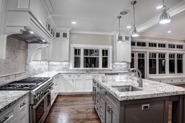 Image Result For Luna Pearl Granite With White Cabinets