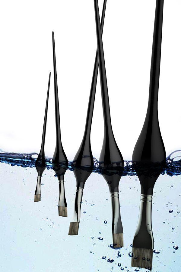 Floating Painting brushes