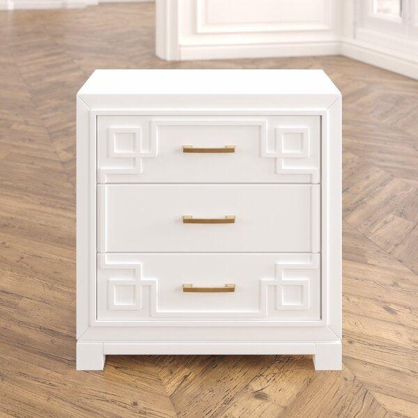 Bindera 3 Drawer Nightstand 3 drawer nightstand