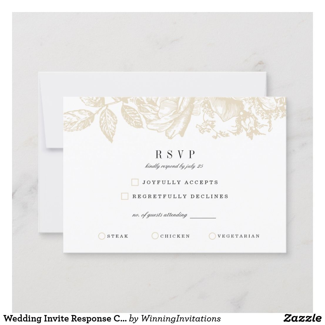 Wedding Invite Response Card Leicester Blooms Wedding Graphic Design Modern Invitation Invitations