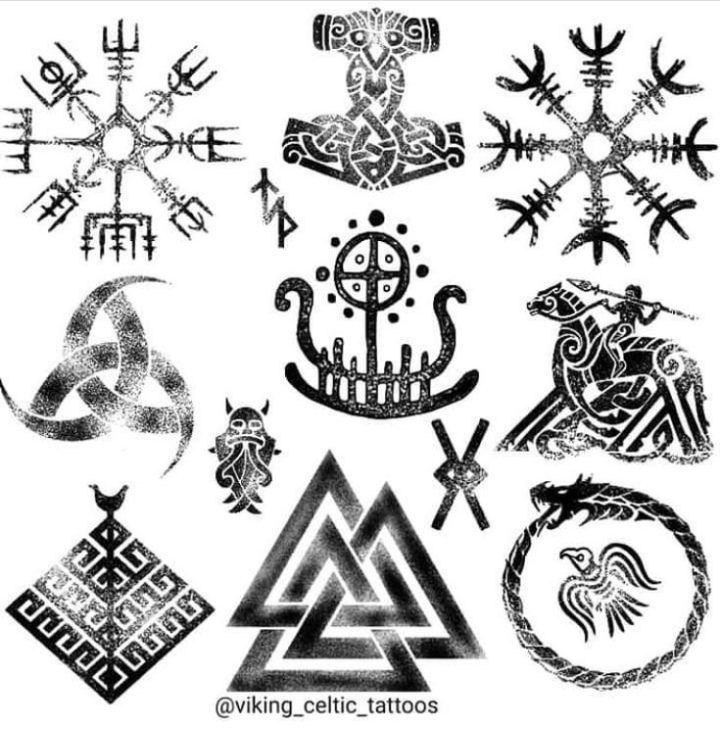 Nordic Symbols Norse Mythology Vikings Tattoo Scandinavian Tattoo Nordic Symbols Vikings Tattoo