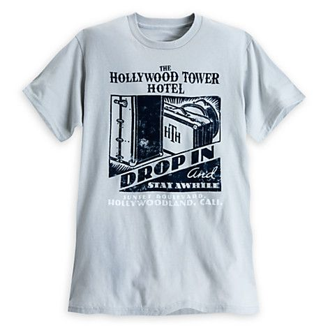 Hollywood Tower Hotel Tee For S Gray Disney