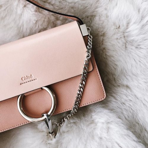 8090de50a84df Our favorite Chloé Faye in the perfect spring color, blush! | Bags ...