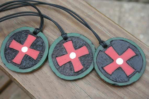 Ted dekker one circle trilogy necklace replica black red white ted dekker circle trilogy necklace i really want one aloadofball Choice Image
