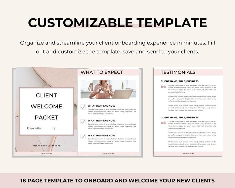 Client Welcome Packet Template Proposal Template Virtual Assistant Welcome Packet Client Onboarding Template New Client Service Guide In 2021 Welcome Packet Client Welcome Packet Template Welcome Packet Template Welcome packet template free