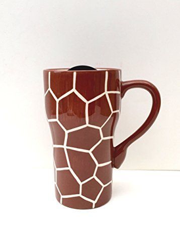 GIRAFFE Ceramic Travel Mug 6-1/4\