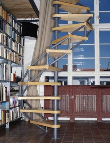 An Industrial Open Spiral Staircase! Weu0027ve Been Thinking Of Better Ways  Than The Old Chevy Chase Pull Down Ladder.