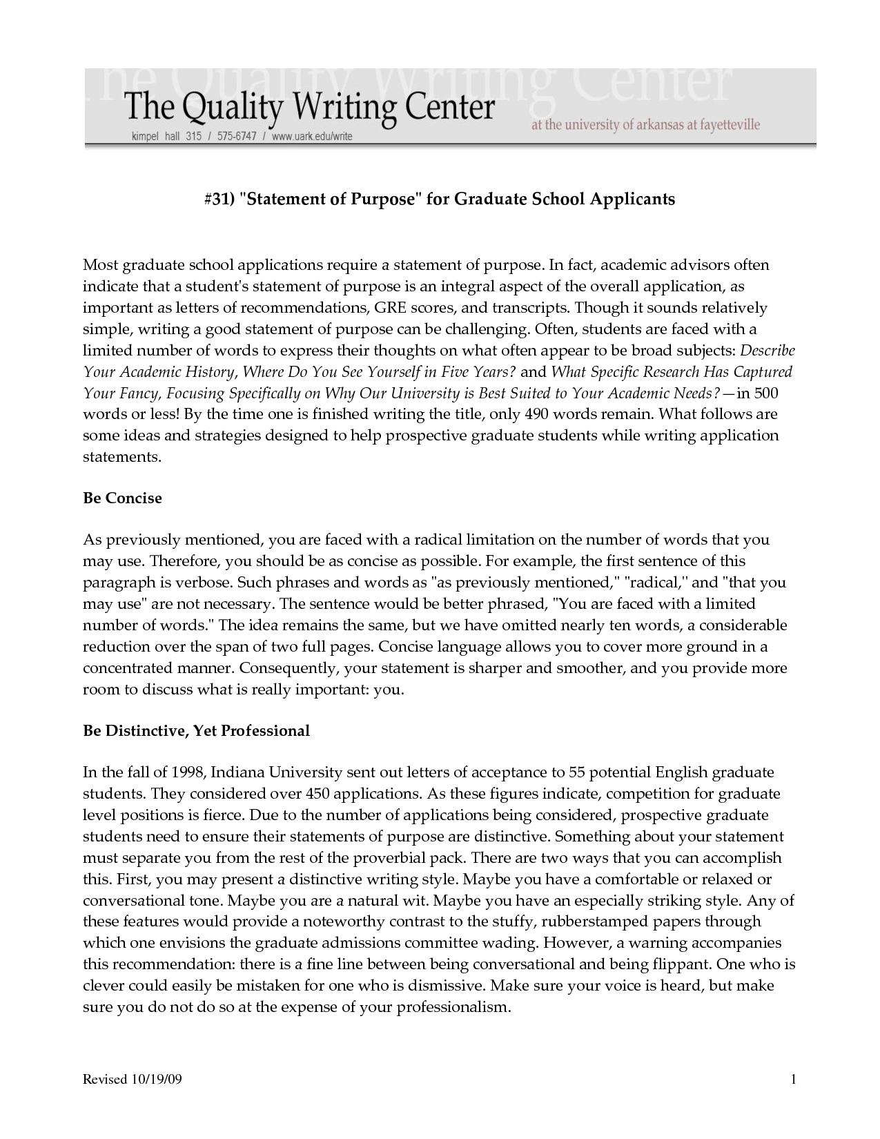 Statement Of Purpose For Grad School Sample – Bacguikwon30