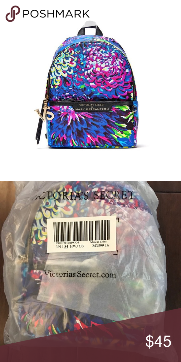 New Victoria secret small city backpack From the limited-edition Victoria s  Secret x Mary Katrantzou collection, featured in the 2018 Victoria s Secret  ... 296b0a2e37