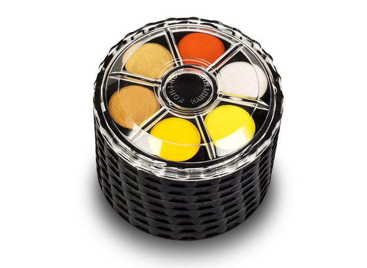 Watercolour Paint Round Wheel Set Stackable Koh I Noor Water