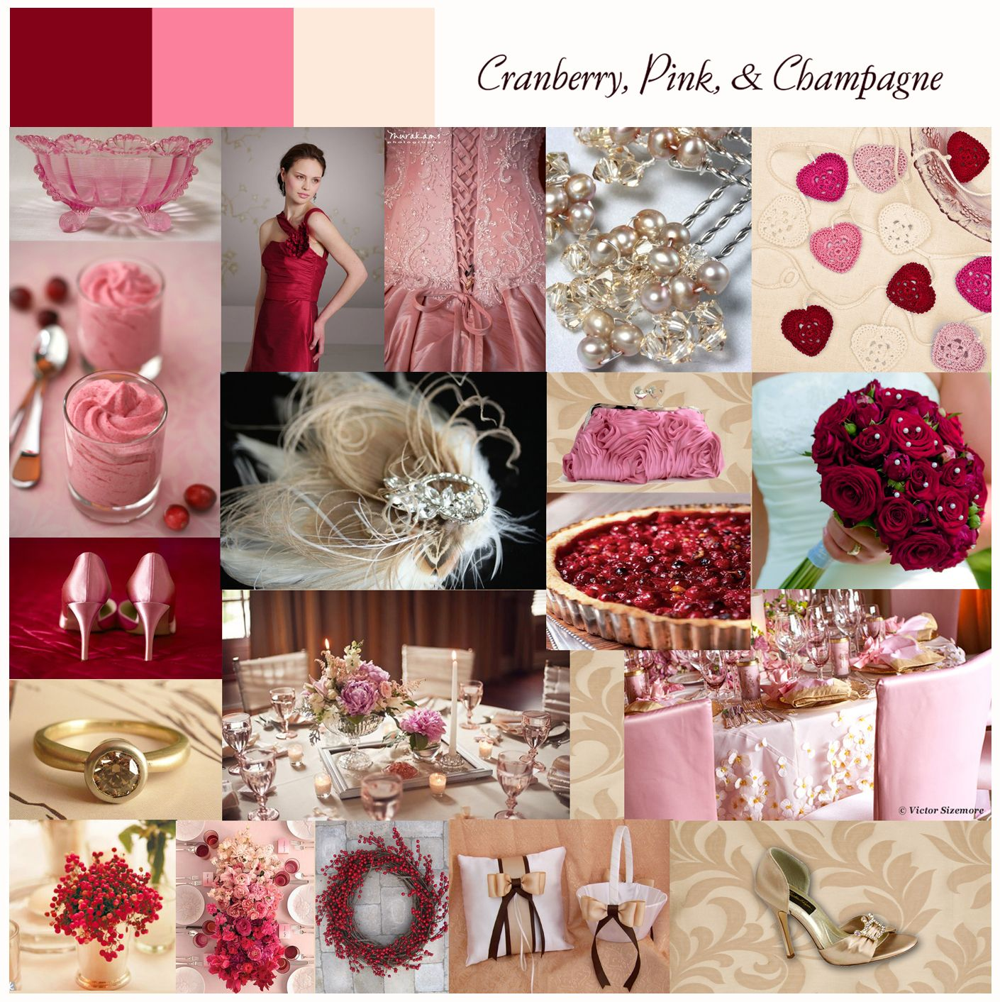 Cranberry champagne wedding - Champagne Cranberry Wedding