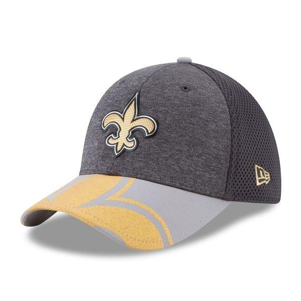 a1141fe6432d5 New+Orleans+Saints+Graphite+Spotlight+39THIRTY+Flex+Fit+Hat+by+New+ ...