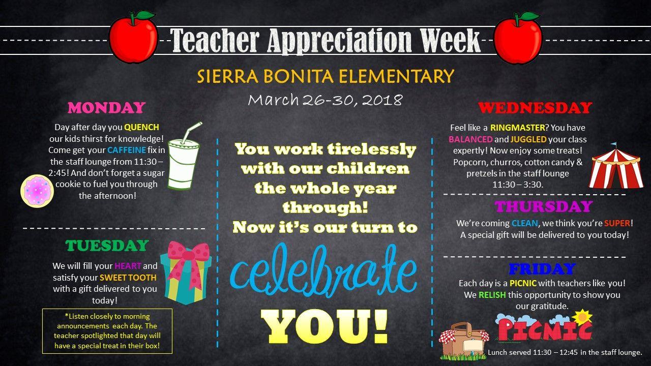 Teacher Appreciation Week Ideas Teacher Appreciation Lunch