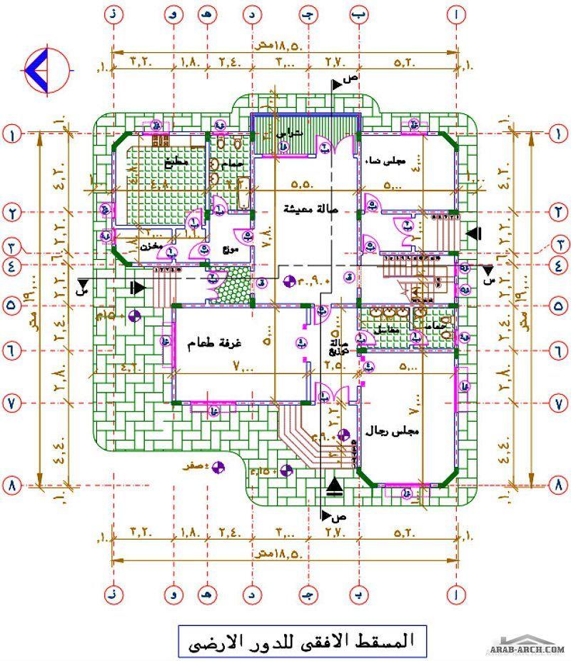 مشروع فيلا سكنية دورين كاملة الرسومات House Design Pictures Classic House Design Model House Plan