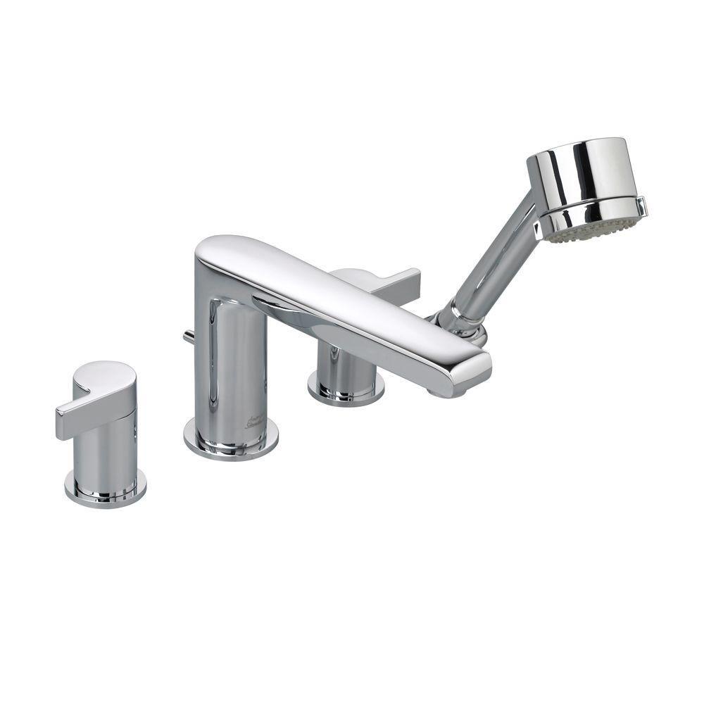 American Standard Studio 2-Handle Deck-Mount Roman Tub Faucet with ...