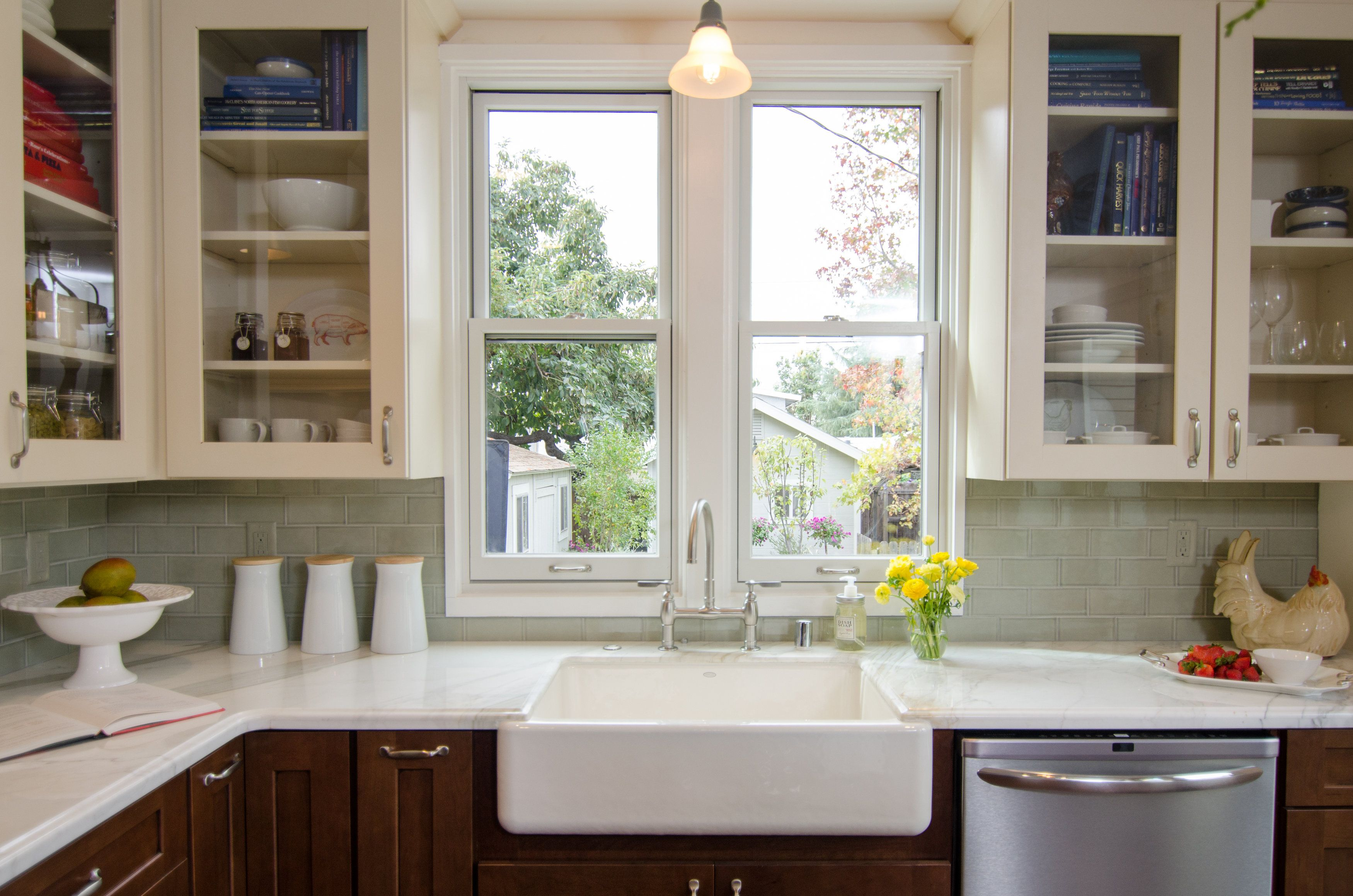 Great farmhouse sink with a view! DreamBuilders Kitchen