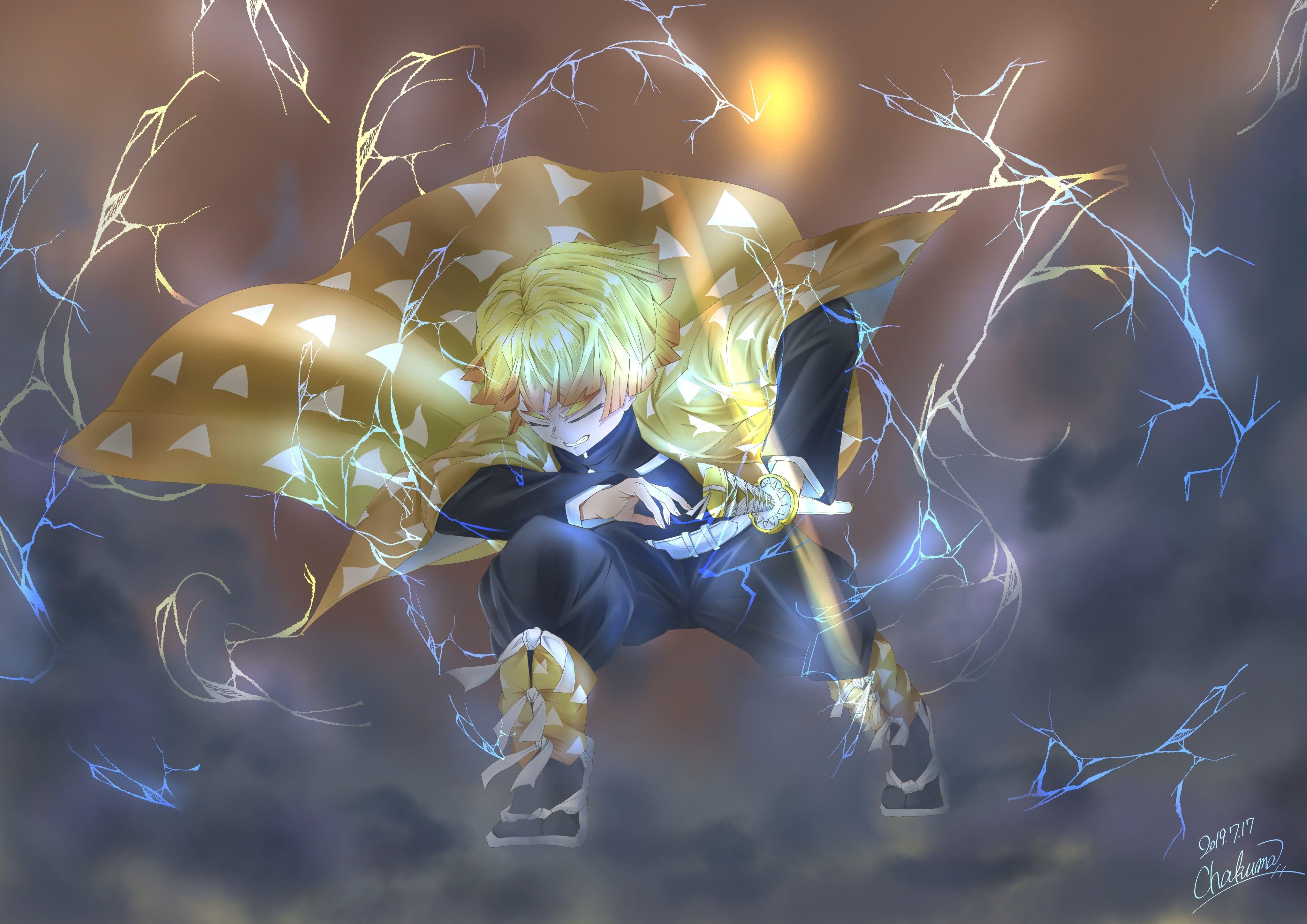 Anime Demon Slayer Kimetsu No Yaiba Zenitsu Agatsuma 4k Wallpaper Hdwallpaper Desktop Hd Anime Wallpapers Cool Anime Wallpapers Anime Wallpaper 1920x1080