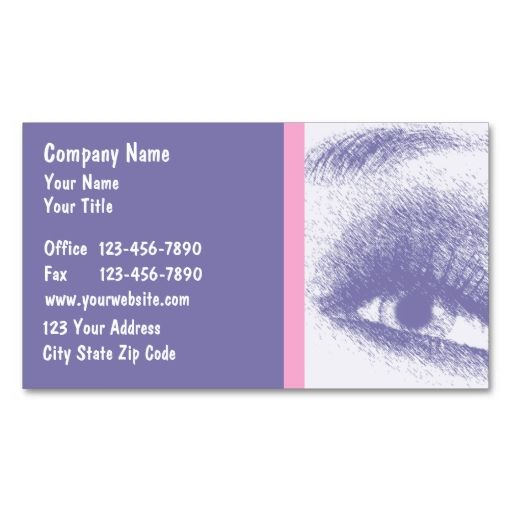 Optometry Business Cards Optometry Business Cards And Business